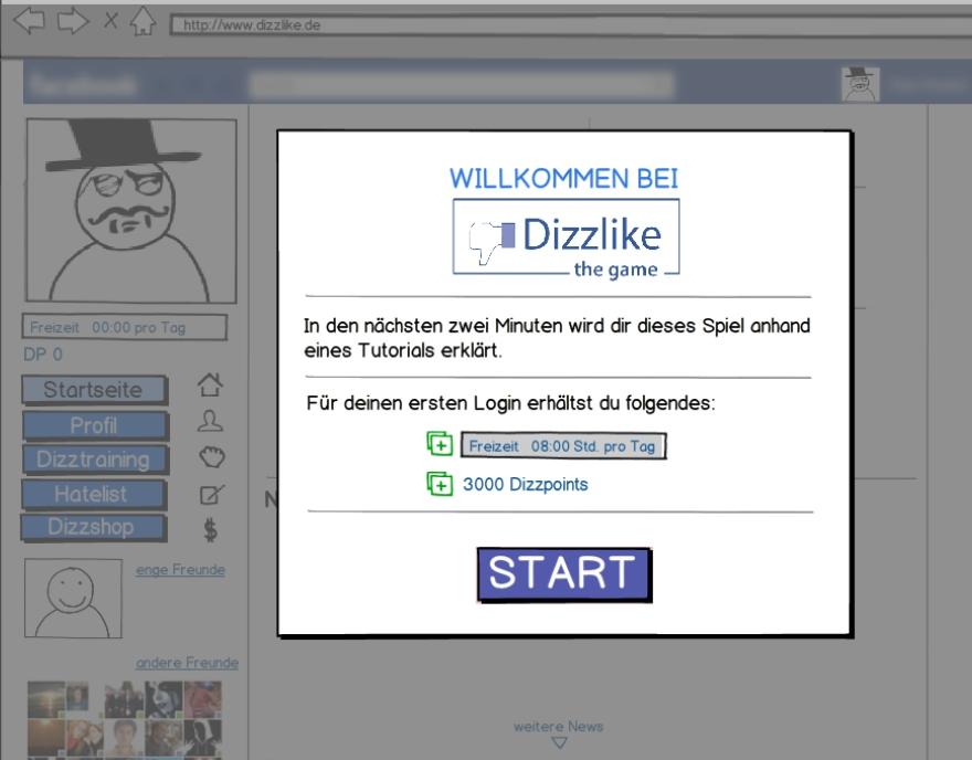 Demo Mock-up Dizzlike